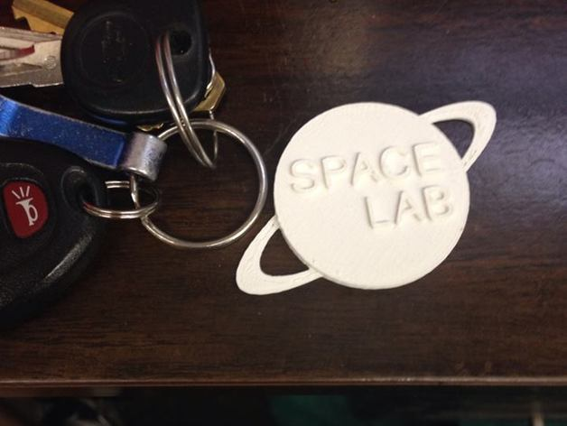 SpaceLab Real Keychain